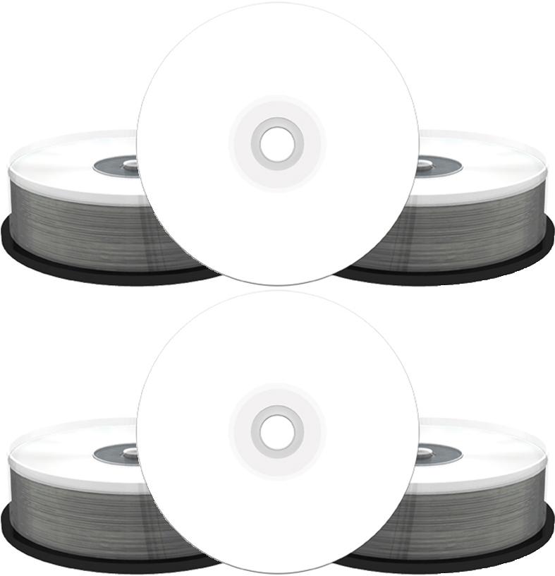 100 MediaRange CD R 900MB 100Min 48x Bedruckbar Spindel InkJet Printable